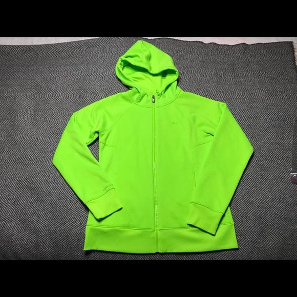 64e229087 Under Armour Tops | Ua Storm Zip Hoodie Hyper Green Med | Poshmark